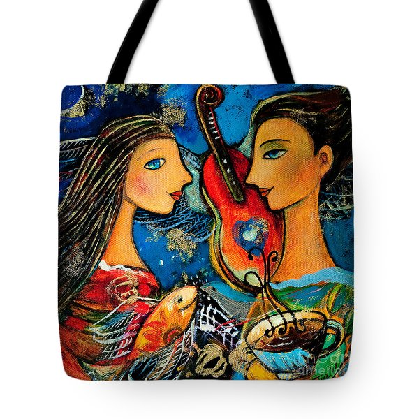 Music Lovers Tote Bag by Shijun Munns