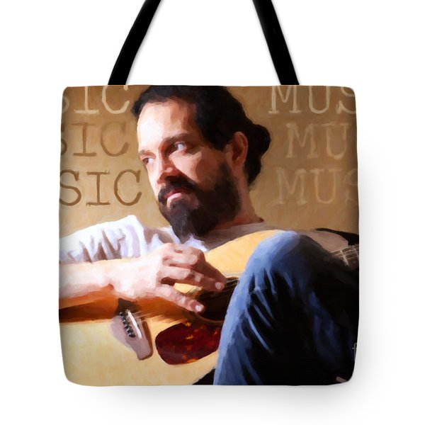 Music Man Tote Bag by Sharon Dominick