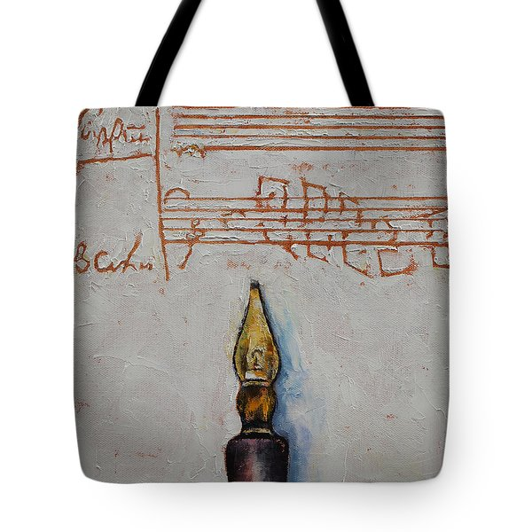 Music Tote Bag by Michael Creese