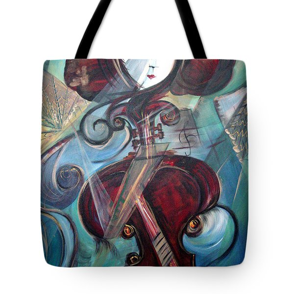 Tote Bag featuring the painting Music Of My Life by Dorothy Maier