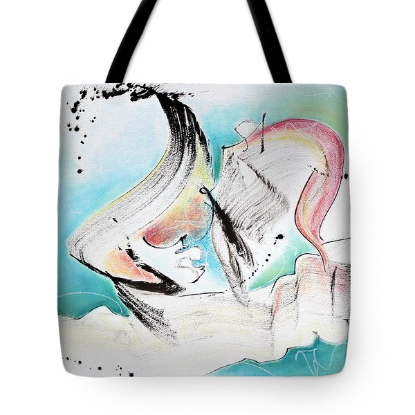 Music Of Sea Waves Tote Bag