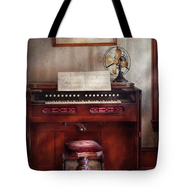 Music - Organist - My Grandmothers Organ Tote Bag by Mike Savad
