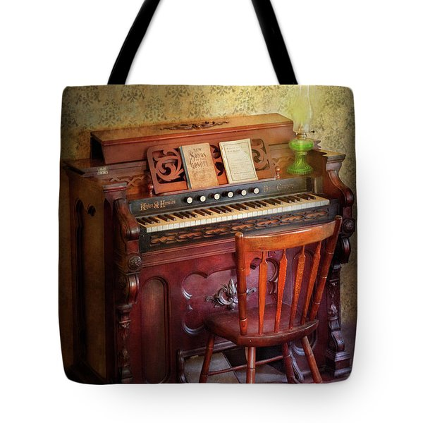 Music - Organist - Playing The Songs Of The Gospel  Tote Bag by Mike Savad