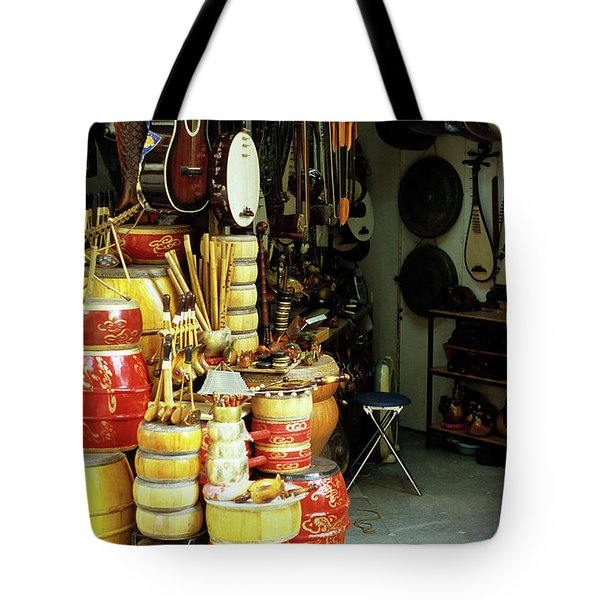 Music Shop Tote Bag by Rick Piper Photography