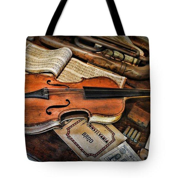 Music - The Violin Tote Bag by Paul Ward