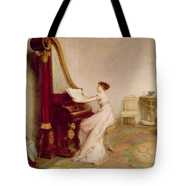 Music When Soft Voices Die, Vibrates Tote Bag by Sir William Quiller Orchardson