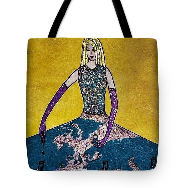 Music World By Jasna Gopic Tote Bag by Jasna Gopic