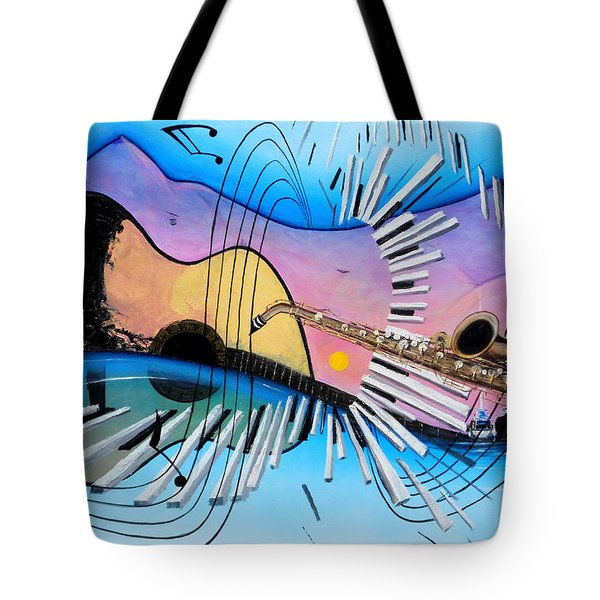 Musica Tote Bag by Angel Ortiz