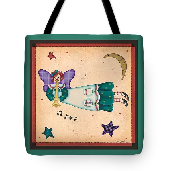 Musical Angel Tote Bag by Tracy Campbell