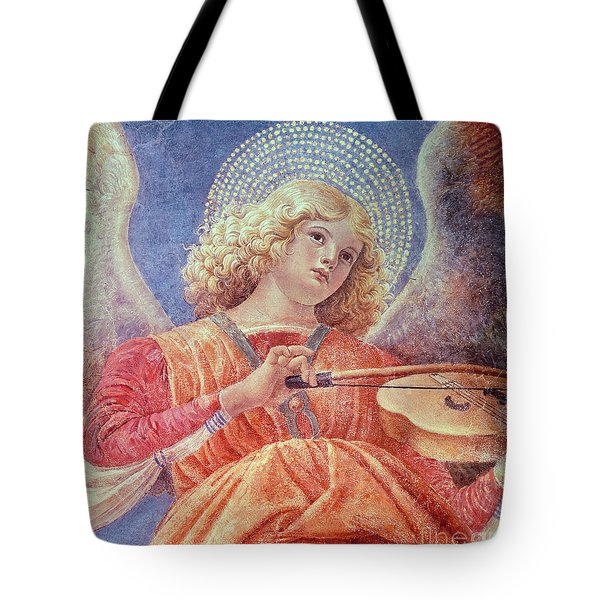 Musical Angel With Violin Tote Bag