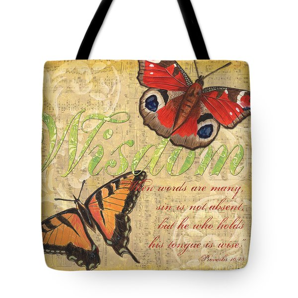 Musical Butterflies 4 Tote Bag by Debbie DeWitt