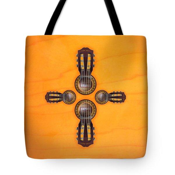 Musical Cross Tote Bag by Doron Mafdoos