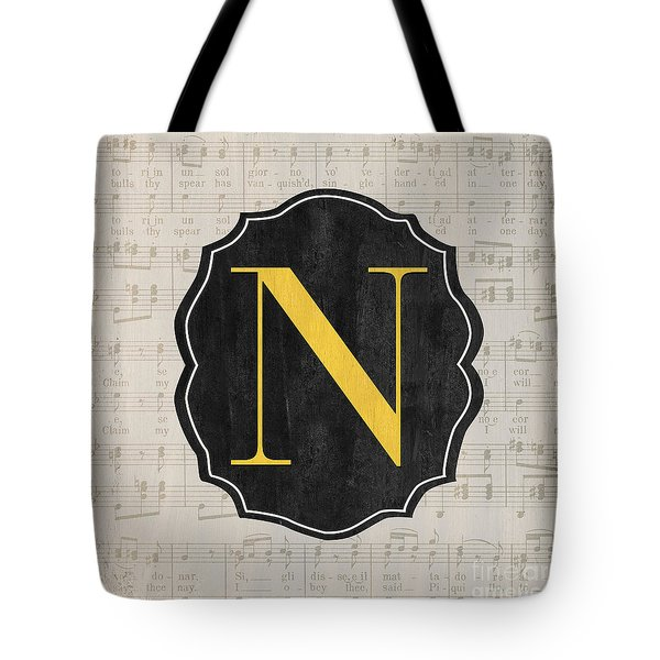 Musical Monogram Tote Bag