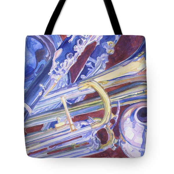 Musical Reflections Tote Bag by Jenny Armitage