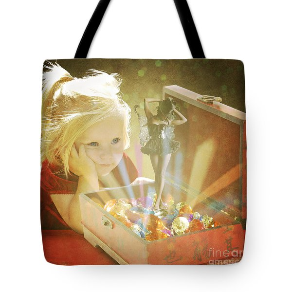 Musicbox Magic Tote Bag by Linda Lees