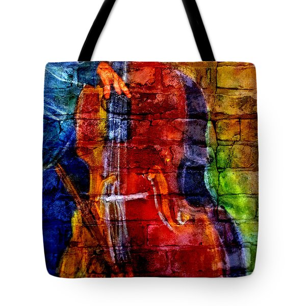 Musician Bass And Brick Tote Bag