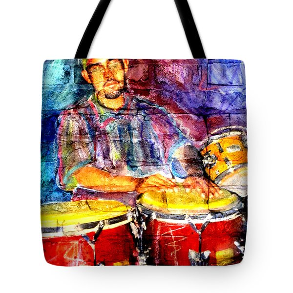 Musician Congas And Brick Tote Bag