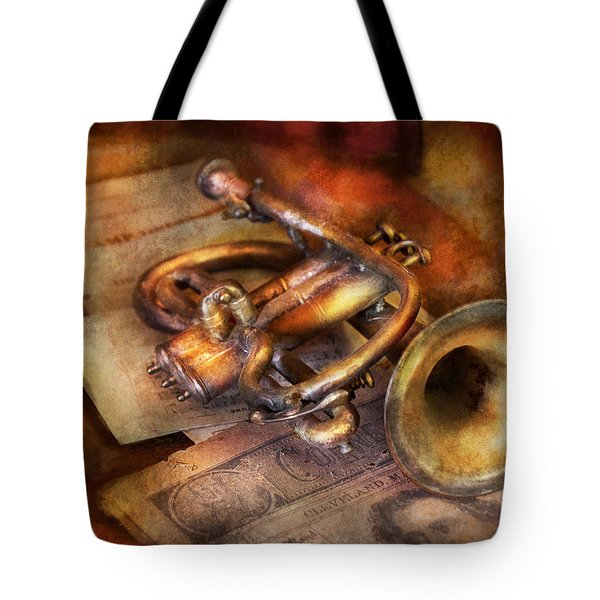 Musician - Horn - Toot My Horn Tote Bag by Mike Savad