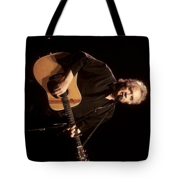 Musician Johnny Cash Tote Bag