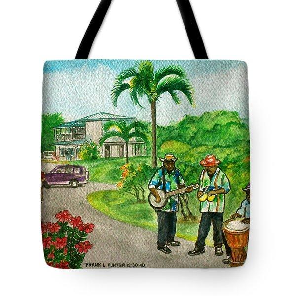 Musicians On Island Of Grenada Tote Bag