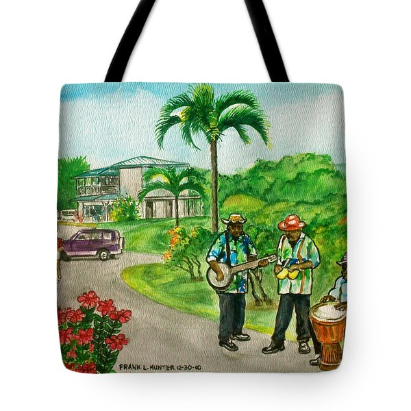 Musicians On Island Of Grenada Tote Bag by Frank Hunter