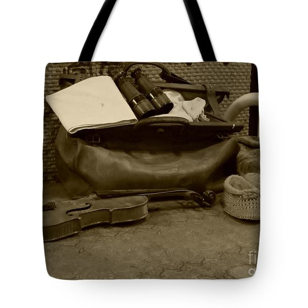 Travel Bag On A Bed Tote Bag