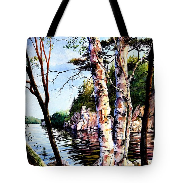 Muskoka Reflections Tote Bag by Hanne Lore Koehler