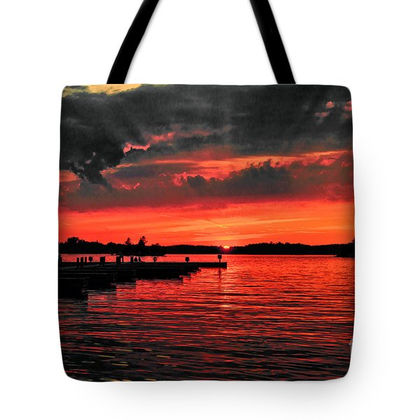 Muskoka Sunset Tote Bag