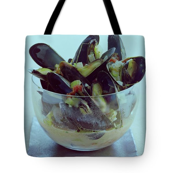 Mussels In Broth Tote Bag