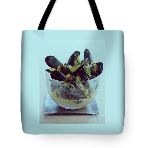 Mussels In Broth Tote Bag