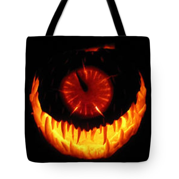 Mutant Strawberry Clock Tote Bag by Shawn Dall
