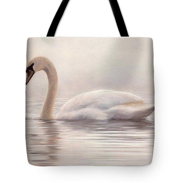 Mute Swan Painting Tote Bag