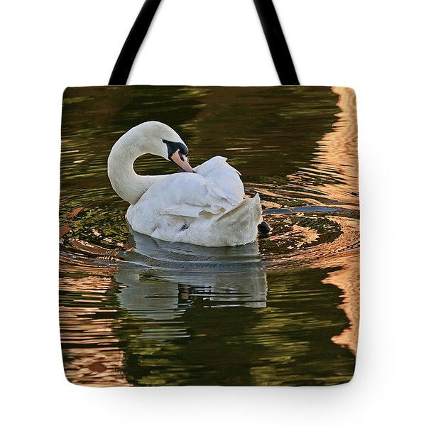 Tote Bag featuring the photograph Preening by Kate Brown