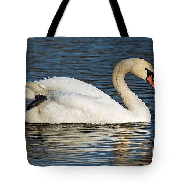 Tote Bag featuring the photograph Mute Swan Resting by Olivia Hardwicke