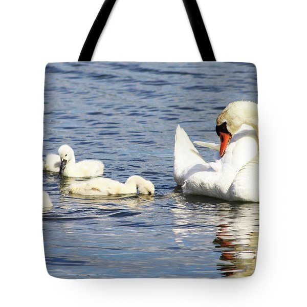 Tote Bag featuring the photograph Mute Swans by Alyce Taylor