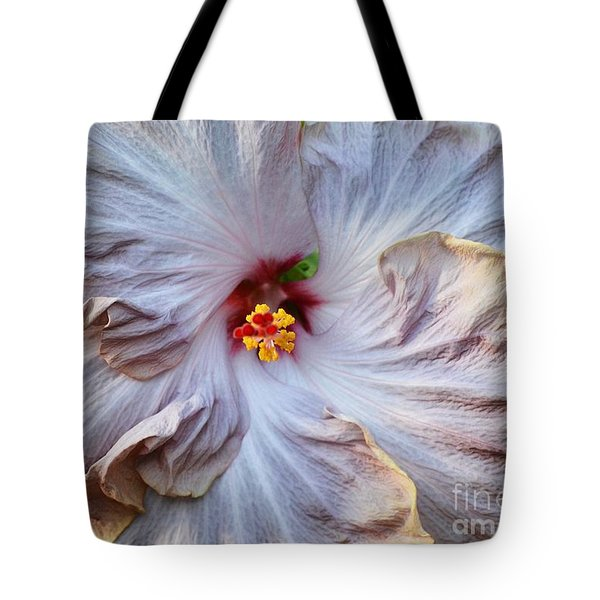 Muted Hibiscus Tote Bag by Cindy Manero