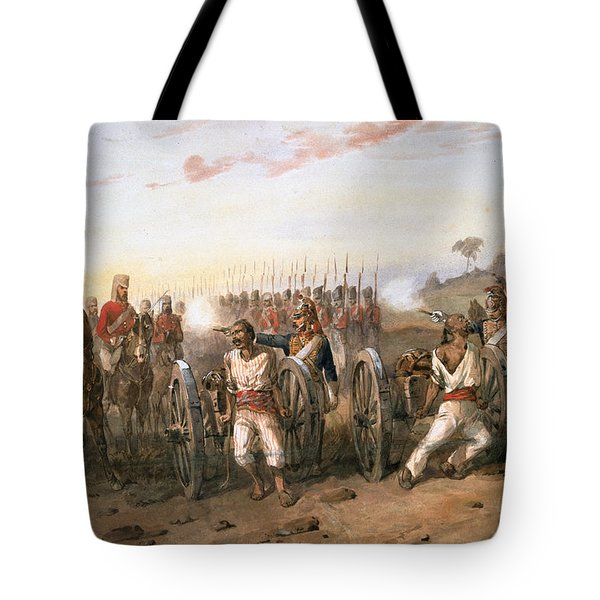 Mutineers About To Be Blown From Guns Tote Bag