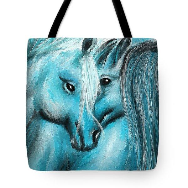 Mutual Companions- Fine Art Horse Artwork Tote Bag