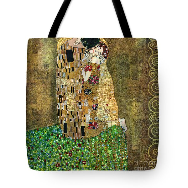 My Acrylic Painting As An Interpretation Of The Famous Artwork Of Gustav Klimt The Kiss - Yakubovich Tote Bag