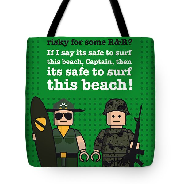 My Apocalypse Now Lego Dialogue Poster Tote Bag