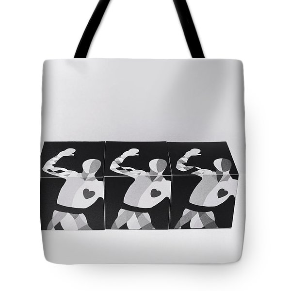 My Bauhaus Harlequin Tote Bag by Charles Stuart