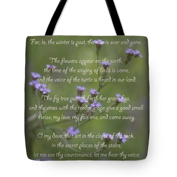 My Beloved Spoke - Purpletop Vervain Verbena Bonariensis Tote Bag