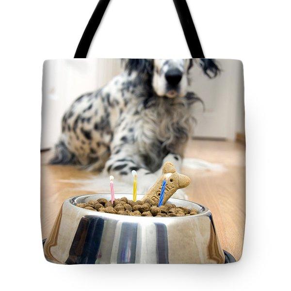 My Best Friend's Birthday Tote Bag by Alexey Stiop