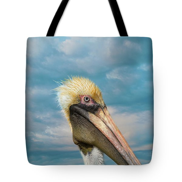 My Better Side - Florida Brown Pelican Tote Bag
