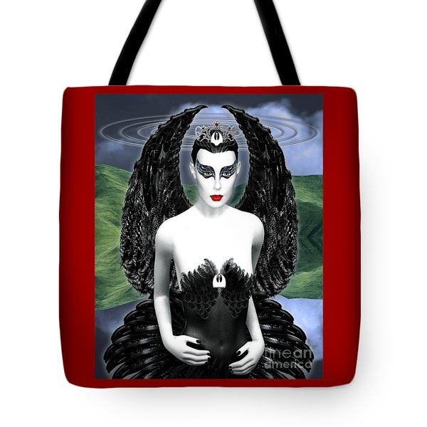 My Black Swan Tote Bag by Keith Dillon