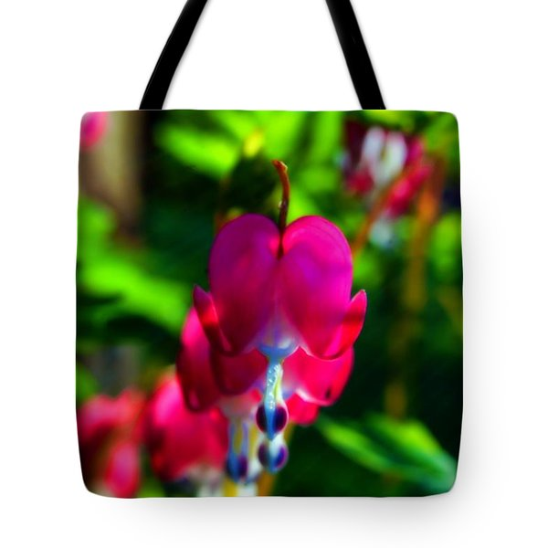Tote Bag featuring the photograph My Bleeding Heart by Peggy Franz
