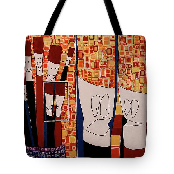 Tote Bag featuring the painting My Brushes Are Talking About Me by Donna Howard