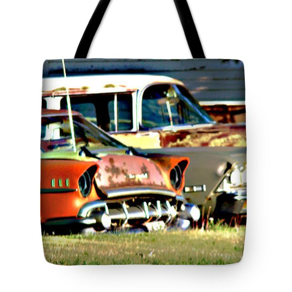 Tote Bag featuring the digital art My Cars by Cathy Anderson