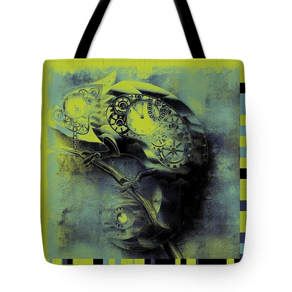 Chameleon - Lime - 01b02 Tote Bag by Variance Collections