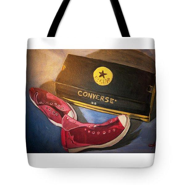 My Chucks - Pink Converse Chuck Taylor All Star - Still Life Painting - Ai P. Nilson Tote Bag